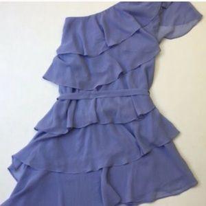 FOREVER 21 Chiffon 1 Shoulder dress with sash